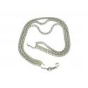 Bransoletka KOREANKA POTRÓJNA 19cm srebro 925