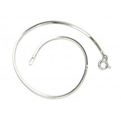 Bransoletka LINKA KWADRATOWA 1,1mm 18cm srebro 925