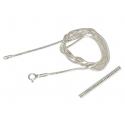 ŁAŃCUSZEK OGON WĘZA 50cm srebrna pr.925 -50%