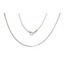 Linka ośmiokątna srebrna pr.925 -50% 50CM 1.1MM
