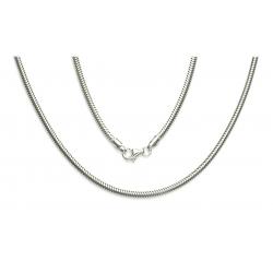 ŁAŃCUSZEK OGON WĘŻA 50cm srebrna pr.925 -50%