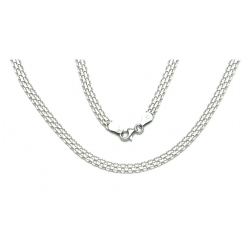 ŁAŃCUSZEK BISMARCK 45cm 5mm srebro pr.925