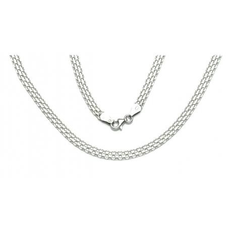 ŁAŃCUSZEK BISMARCK 40cm 5mm srebro pr.925