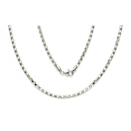 ŁAŃCUSZEK CORA+CORA 40cm 2,5mm srebrna pr.925