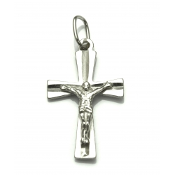 SREBRNY KRZYŻYK KRZYŻ Z PANEM JEZUSEM srebro 925
