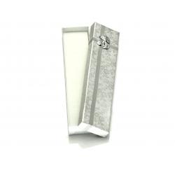 Eleganckie srebrne pudełeczko 20,5x4,5x2,5cm