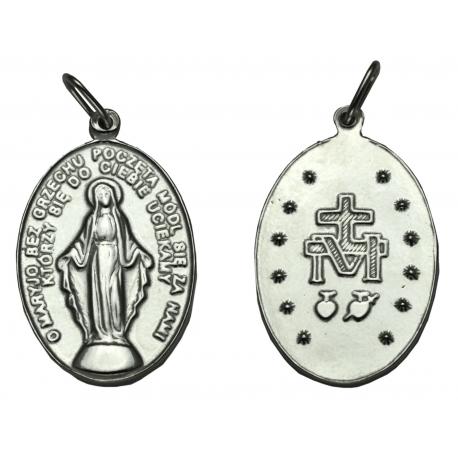 Srebrny medalik Matka Boska Niepokalana pr 925