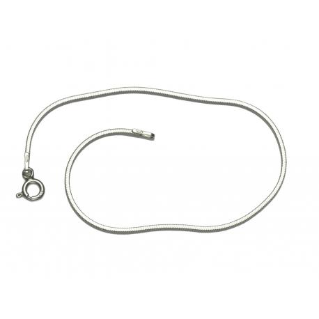 bransoletka linka kwadrat 18,5cm 1mm srebro 925