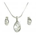 PIĘKNY SREBRNY KOMPLET + ŁAŃCUSZEK srebro pr. 925