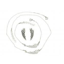 SREBRNY KOMPLET SKRZYDŁA srebro pr. 925