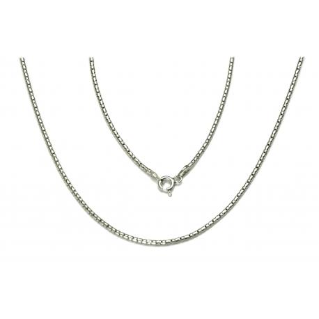 ŁAŃCUSZEK COREANA CORA 45cm srebrna pr.925 -50%
