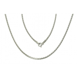 ŁAŃCUSZEK COREANA CORA 80cm srebrna pr.925 -50%