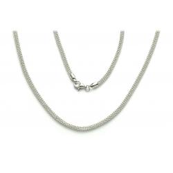 ŁAŃCUSZEK KULKI 6 RZĘDOWY 45cm srebro pr.925