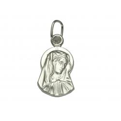 Srebrny Medalik MADONNA pr. 925