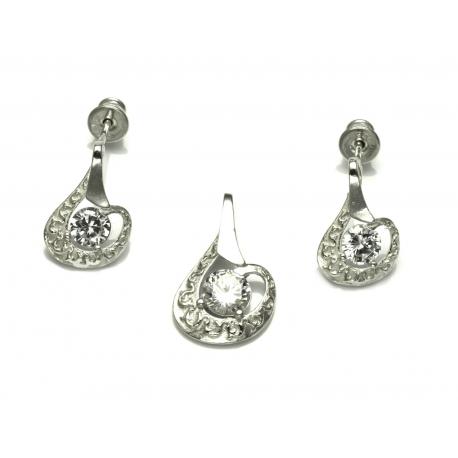 Srebrny komplet CYRKONIA srebro 925