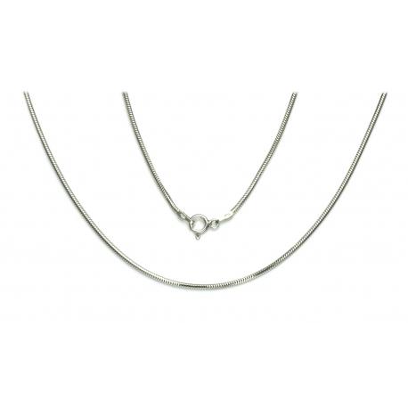 ŁAŃCUSZEK OGON WĘZA 60cm srebrna pr.925 -50%