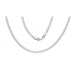 ŁAŃCUSZEK BISMARCK 50cm 3mm srebro pr.925