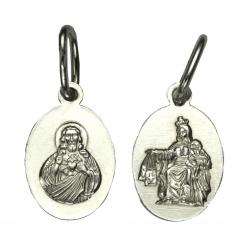 Srebrny medalik Jezus / Matka Boska SREBRO 925