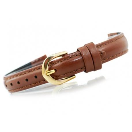 Pasek do zegarka - Skóra 12 mm – Jasny brąz