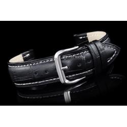 Pasek do zegarka - Skóra 20 mm – Czarno-Biały