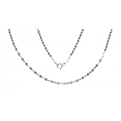 ŁAŃCUSZEK WŁOSKI MOKKA 50cm srebro pr.925 -50%