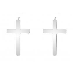 KOLCZYKI CELEBRYTKI KRZYŻYK KRZYŻ CROSS SREBRO 925