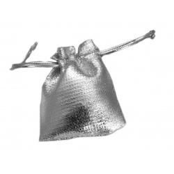 Woreczek na biżuterię 5x7cm na prezent srebrny