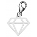 SREBRO pr. 925 DIAMENT CHARMS
