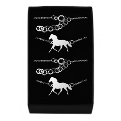 Komplet biżuteria celebrytka Konik Koń Srebro 925