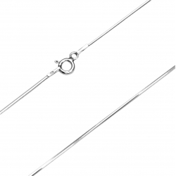 Łańcuszek linka ośmiokątna 0,85mm 40cm SREBRO 925