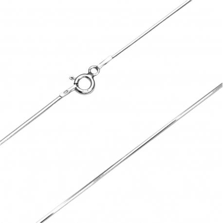 Łańcuszek linka ośmiokątna 0,85mm 45cm SREBRO 925