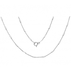 Łańcuszek Ankier z Pałeczkami 40cm Srebro 925