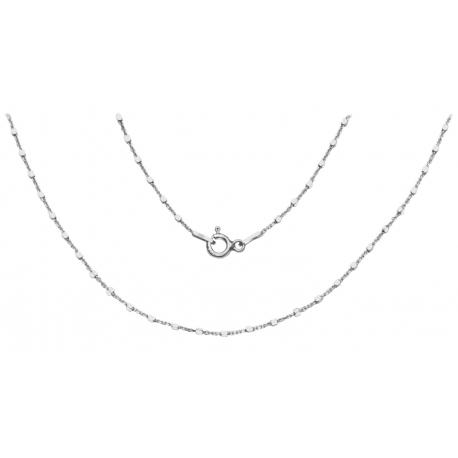 ŁAŃCUSZEK ANKIER Z KOSTKAMI 40cm srebro pr.925